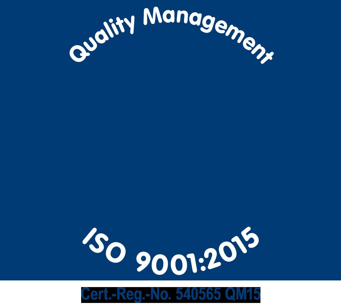 Zertifizierung DIN ISO9001:2015 - bluechemGROUP