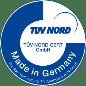 Signet TÜV Nord Certifikat Made in Germany