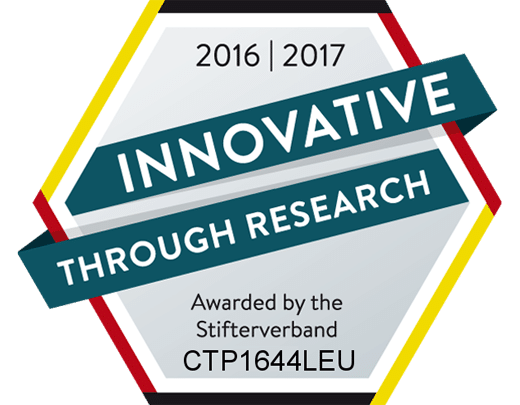Auszeichnung Innovative Through Research 2016/2017 - bluechemGROUP