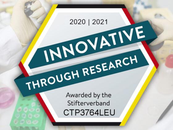 Auszeichnung Innovative Through Research - bluechemGROUP